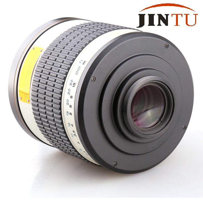 JINTU 500mm f/6.3 F6.3 White Telephoto Mirror Lens for Sony Alpha Camera + Free Leather Bag + Free Shipping  +2 Years Warratny jintu 900mm f 8 mirror super tele manual fix focus lens for sony alpha a900 a700 a300 a200 a100 dslr camera