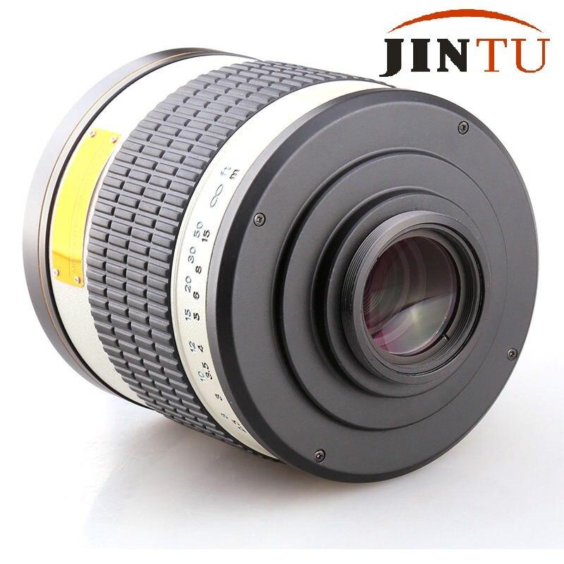 JINTU 500mm f/6.3 F6.3 blanc téléobjectif lentille miroir pour Sony Alpha caméra + sac en cuir gratuit + livraison gratuite + 2 ans de garantie