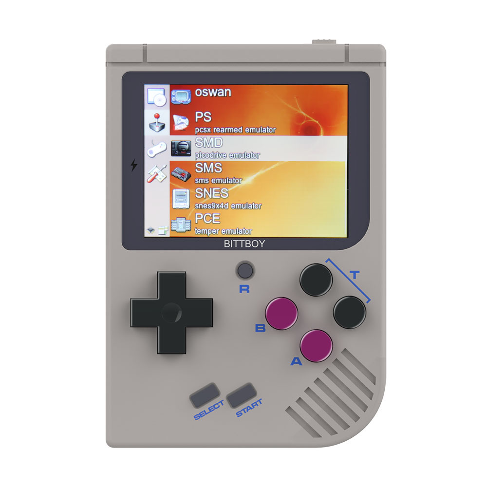Video Game Console New BittBoy - Version3.5 - Retro Game Handheld Games Console Player Progress Save/Load MicroSD card External mini kompas sleutelhanger