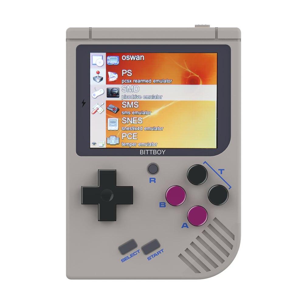 Console de vídeo Game Novo BittBoy-Version3.5-Retro Jogo Handheld Consola de Jogos Jogador Progresso Salvar/Carga cartão MicroSD externo