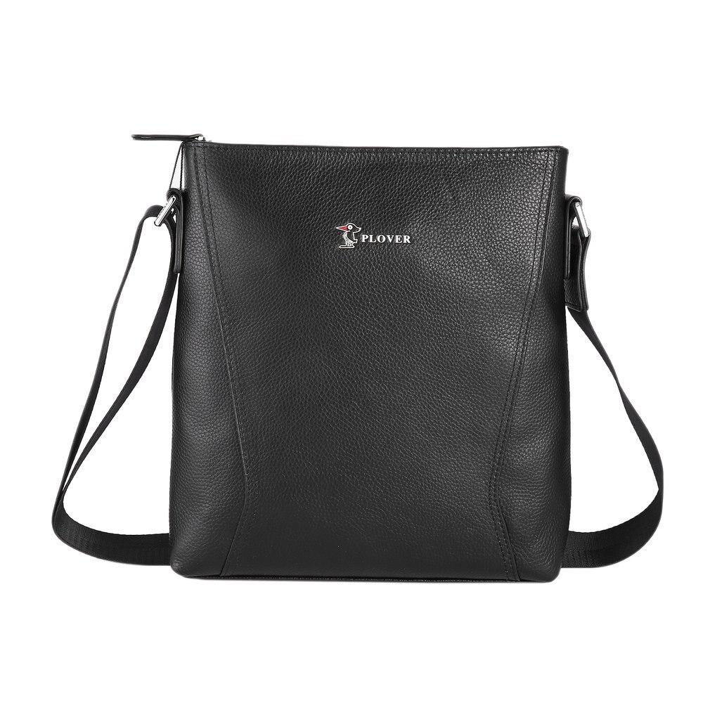 Plover Solid Color Single Shoulder Business Bag Crossbody Bag with Zipper Closure & Adjustable Strip for Men GD9862-1A magnetic closure animal dolls pompon crossbody bag
