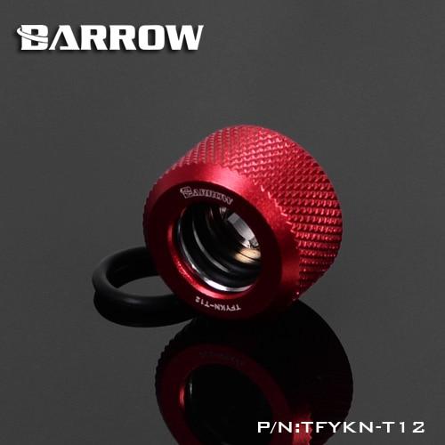 Купить с кэшбэком BARROW Hand Compression OD12mm Hard Tube Fitting Water Cooling Metal Connector Fitting G1/4'' Thread TEPG Acrylic