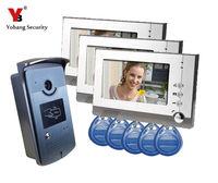 Freeshipping By DHL Video Door Phone Doorbell 6interphone Maison Video Intercom Video IR Camera Interphone Visiophone