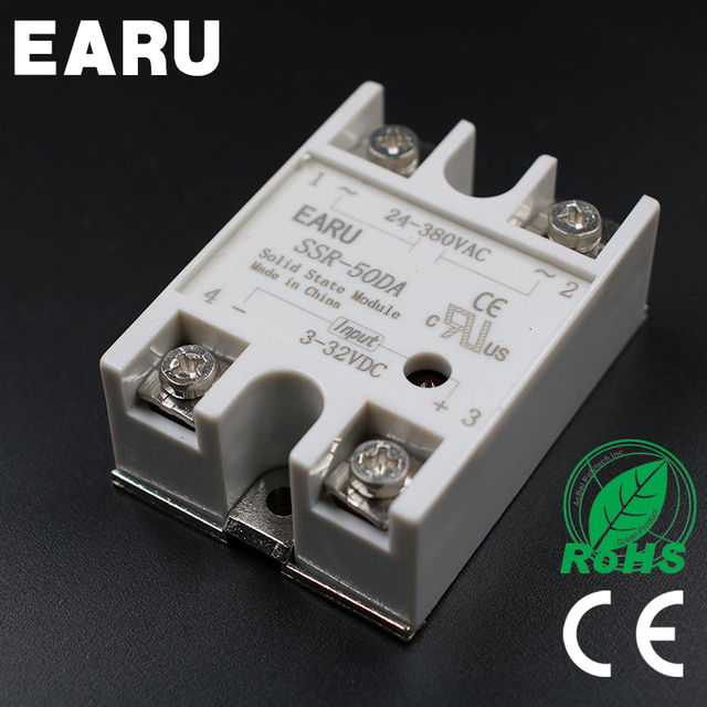24v 380v 50a 250v ssr 50da solid state relay module 3 32v dc to ac rh aliexpress com electronic relay model 50 24v electronic relay model no 50