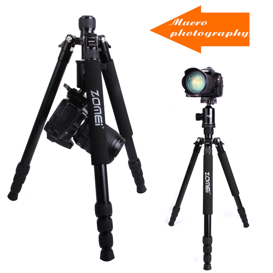 Zomei Z888 Portable Compact Camera Quality Aluminium Alloy Tripods Holder Stand Kit Tripod Monopod For DSLRs Camera Professional professional aluminium alloy tripod kit monopod for dslr camera five colors available light compact portable