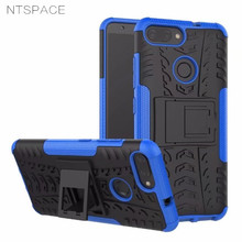 NTSPACE For Asus Zenfone Max Plus M1 PC Silicone Dual Shockproof Armor Case For Asus Zenfone Max Plus ZB570TL X018D Back Cover