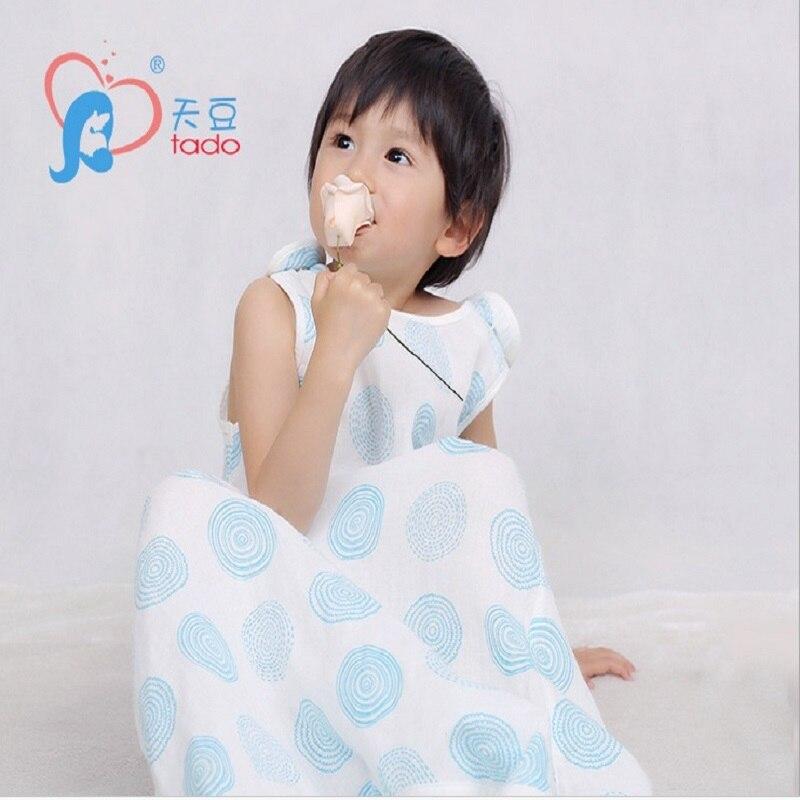Muslin Cotton Children Baby Sleeping Bag 0-4Years Baby Sleeping Bag Sleeveless Sleepware  Kid's Sleepsack Baby Sleepwear Clothes