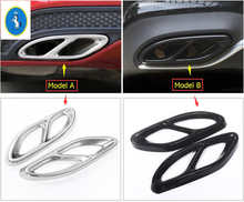Yimaautotrims For Mercedes Benz GLE Class W166 & Coupe C292 2015 2016 2017 ABS Accessories Rear Tail Exhaust Tip Pipe Cover Trim yimaautotrims middle control gear shift multimedia cover trim interior mouldings fit for mercedes benz gle w166 2016 2017 2018