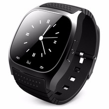 New 2017 Waterproof font b Smartwatch b font M26 Bluetooth Smart Watch With LED Alitmeter Music
