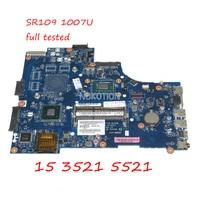 NOKOTION VAW00 LA 9104P CN 06H8WV 06H8WV 6H8WV Laptop Motherboard For Dell inspiron 15 3521 5521 SR109 1007U CPU DDR3 Main board