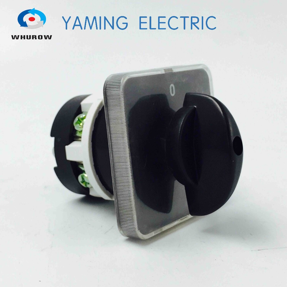 20A universal switch knob cam switch electric cut off on off changeover rotary switch 660v ui 10a ith 1 0 2 on off on universal rotary cam changeover switch