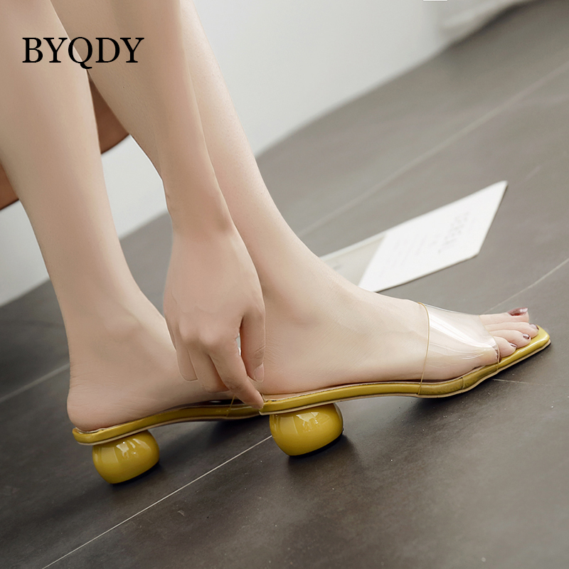 BYQDY Sweet Pink Women Slippers Summer 2018 New Arrival Strange Style - Կանացի կոշիկներ