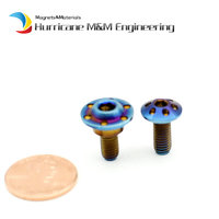1 Pack Shell Repair M5 x12/13mm Pan Head Burned Blue Color for Ducati 1199 Motorcycle Decoration Ti Bolts Ti Screw Ti Fastener