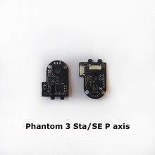 Placa de circuito da microplaqueta do esc do motor do rolo do passo da substituição para a linha central de dji phantom 3 sta/se/3adv/pro r, peças de reparo da linha central de p