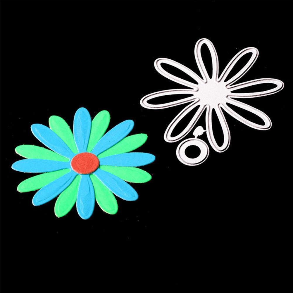 פרח מעגל עיצוב מתכת חיתוך מת לרעיונות סטנסילים DIY אלבום כרטיסי קישוט הבלטות תיקיית תבנית רומנטי