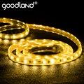 Goodland Luz de tira LED 220 V AC SMD 5050 LED Flexible de cinta de tira de LED impermeable para vivir habitación 10 M 15 M 20 M