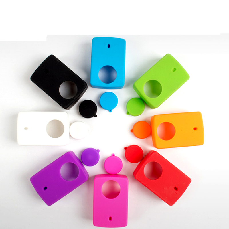 Protective Silicone Case Cover Skin For Xiaomi Yi 4k  Action Sport Camera Lens Cover Cap  Good Quality