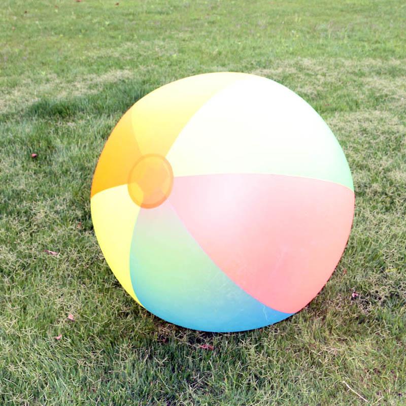 슈퍼 큰 80cm PVC 풍선 볼 아이 아이 에어 비치 볼 - 수상 스포츠 - 사진 6