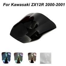 ABS Windscreen For Kawasaki Ninja ZX10R ZX12R ZX-10R ZX-12R 2000 2001 Motorcycle Windshield Iridium Wind Deflectors welly 12167p велли модель мотоцикла 1 18 motorcycle kawasaki 2001 ninja zx 12r
