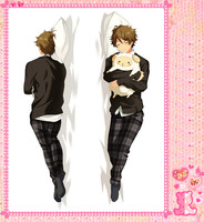 Japanese Anime Cartoon Ensemble Stars Double sided hugging Pillow Case Pillow Cover Pillowcase Peach Skin 2 Way 71056