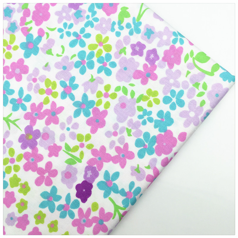 Tela de Algodón Impreso Floral Syunss Costura Artesanal DIY Juguete Material de