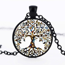 2017 New Tree Life Art Pendant statement Necklace Photo of Glass Cabochon Charm choker Necklace for women gifts jewelry HZ1
