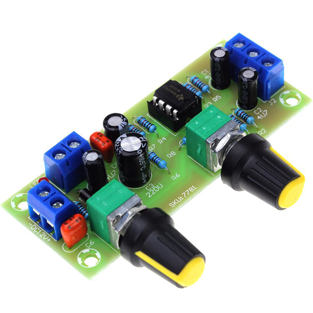 DC 10-24V Low Pass Module Accessories Amplifier Filter Plate 22Hz-300Hz Preamp Board Volume Control Smart Bass Tone Subwoofer