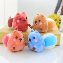 1pcs Kawaii 4Color- Little 10CM Squirrel Plush , Stuffed toy doll ; Keychain Pendant Plush Toy ; Wedding Bouquet Gift Toys