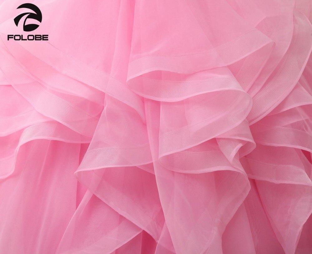 Robes De bal dos nu robe De bal en Organza sans bretelles en cristal - 5