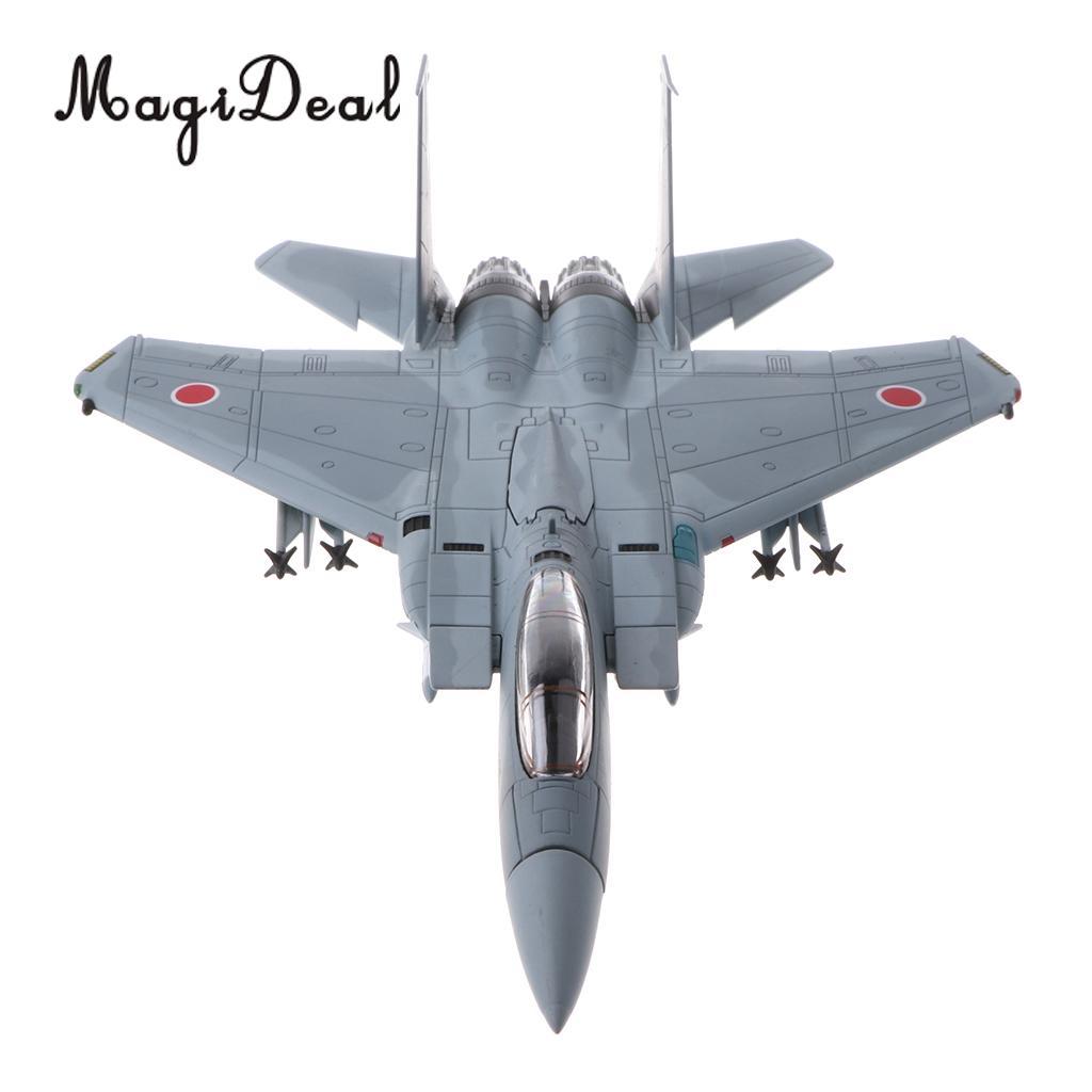 1/100 Alloy Diecast Warplane Model - Japanese JASDF Air Defense Force F-15J Eagle Aircraft Military Plane Model Toy Soldier Gift 1 400 jinair 777 200er hogan korea kim aircraft model