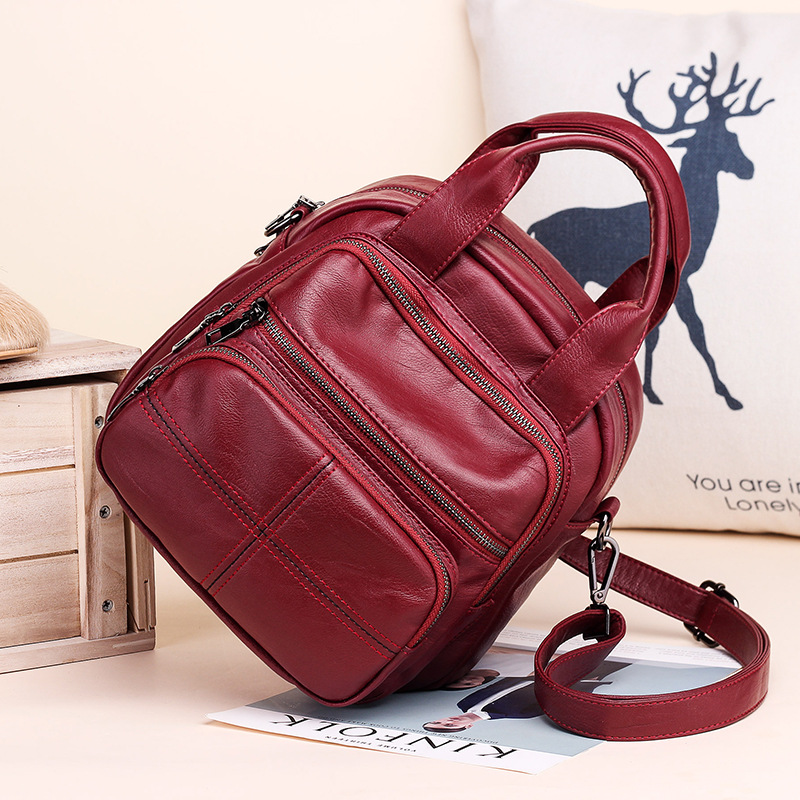 Fashion womens double shoulder bags women spring three backpacks lady crossbody casual satchel mini bag girls cute purse package in Backpacks from Luggage Bags
