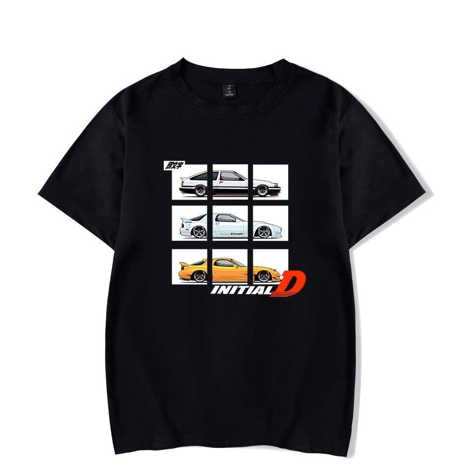 2019 new initial d t-shirt 남성/여성 하라주쿠 캐주얼 인기 힙합 t 셔츠 인쇄 이니셜 d 남성용 반팔 t 셔츠 의류