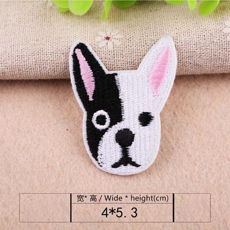 1 шт., нашивка для вышивания собаки, термопередача, гладить на вышивать на пачках для одежды DIY, футболка, тканевая наклейка, декоративные аппликации 47267 - Цвет: A8