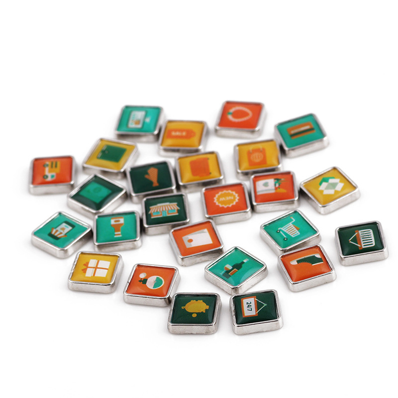 Free Shipping, 20pcs Plastic Drop Square Plated Mixed Type Sign Floating Charms, Locket Charms Fit For Lockets, Gifts