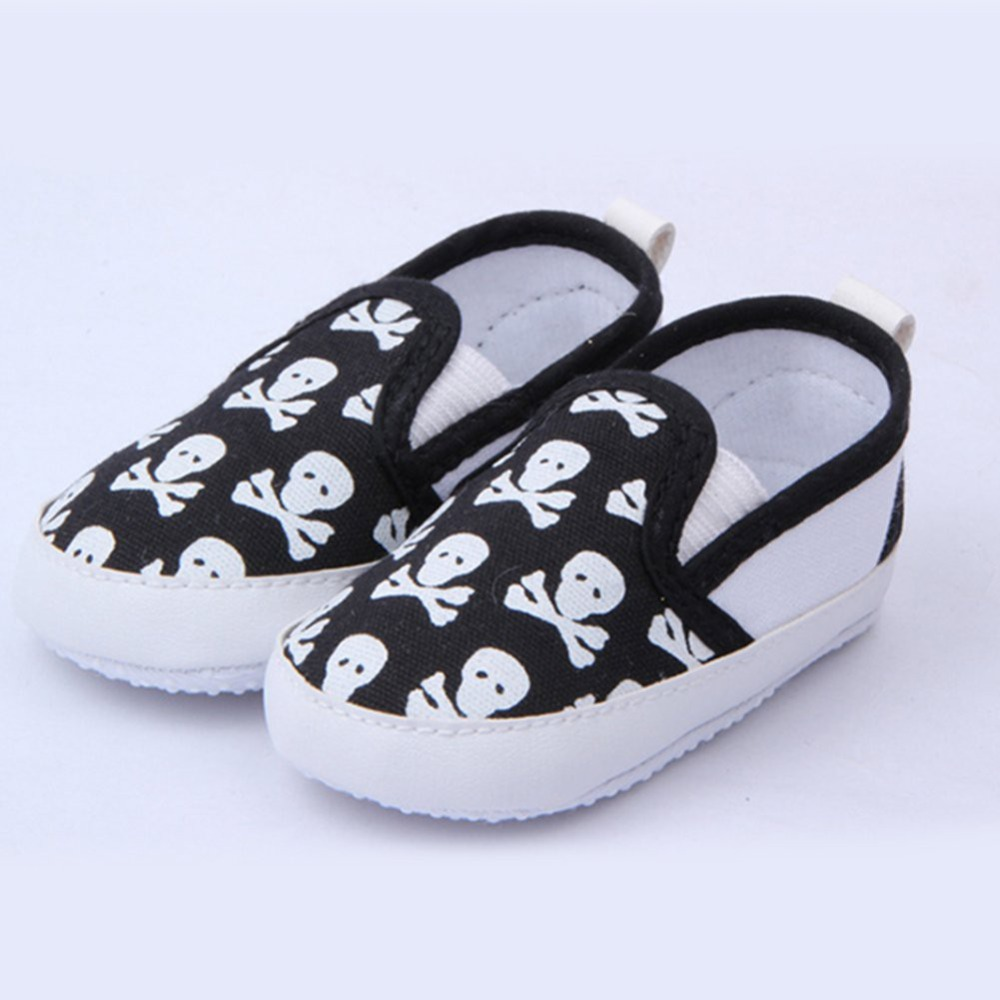 Baby Boys First Walkers Shoes Toddler Soft Sole Kids Children's Infant Shoe Prewalker Skull Pattern  0-12 Months