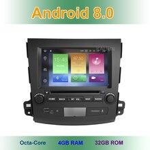 Android 8,0 Автомобильный DVD Радио мультимедийный плеер для Mitsubishi Outlander 2007-2012 с WiFi BT стерео gps 4 ГБ оперативная память