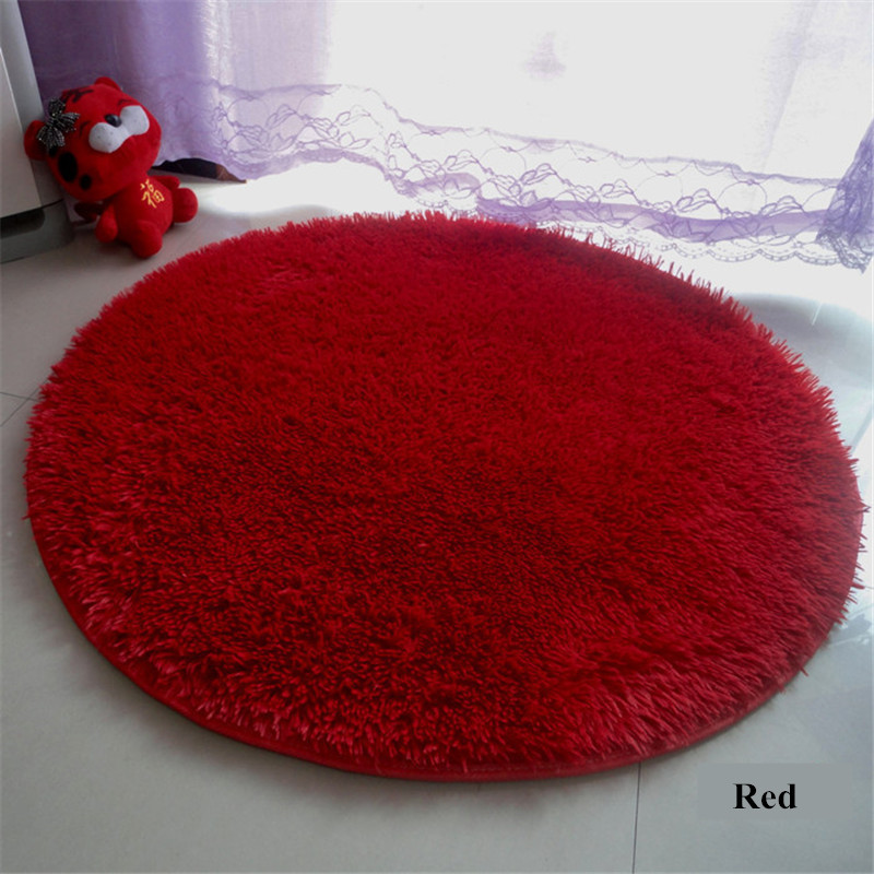 Round Large Floor Plush Silk Rugs 200cm Diameter 3.5cm Hair Soft mats and Carpets Modern Anti skid Living Room Alfombras