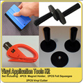 Vinyl Application Tool Set Vinyl Tools PVC Film Vinyl Car Wrap Tool Kit 4pcs Magnet Holder,4pcs Felt Squeegee,2pcs Vinyl Cutter