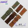 Assistir banda 22 | 24 | 26mm New Mens Black Light Brown Costura Genuine Relógio de Couro Banda Strap Pulseiras