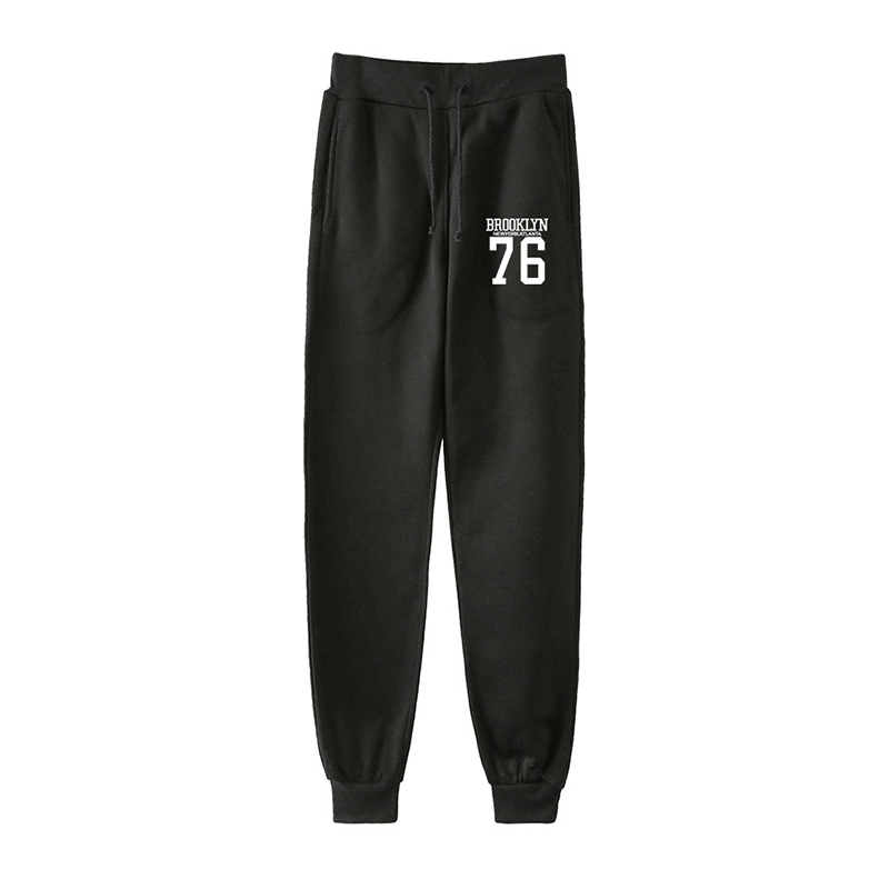 LUCKYFRIDAYF BROOKLYN 76 Printed Fashion Hip Hop Men Women Spring Autumn Harem Pants Casual Male Female Long Loose Pant Trousers
