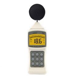 Oryginalny cyfrowy miernik poziomu dźwięku 30-130dB miernik hałasu podręczny wysokiej  możesz o nich nadmienić poziom hałasu Decibel Monitoring Tester narzędzia diagnostyczne