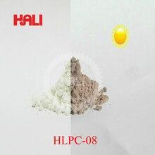 Фотохромный пигмент, солнечный свет активный пигмент, solor чувствительный пигмент порошок, товар: HLPC-08, цвет: серый, 1 лот = 10 грамм