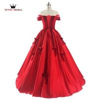 QUEEN BRIDAL Evening Dresses Plus Size Kaftan Vestido De Festa Robe De Soiree Red Formal Evening Downs Party Dresses Formal RE09
