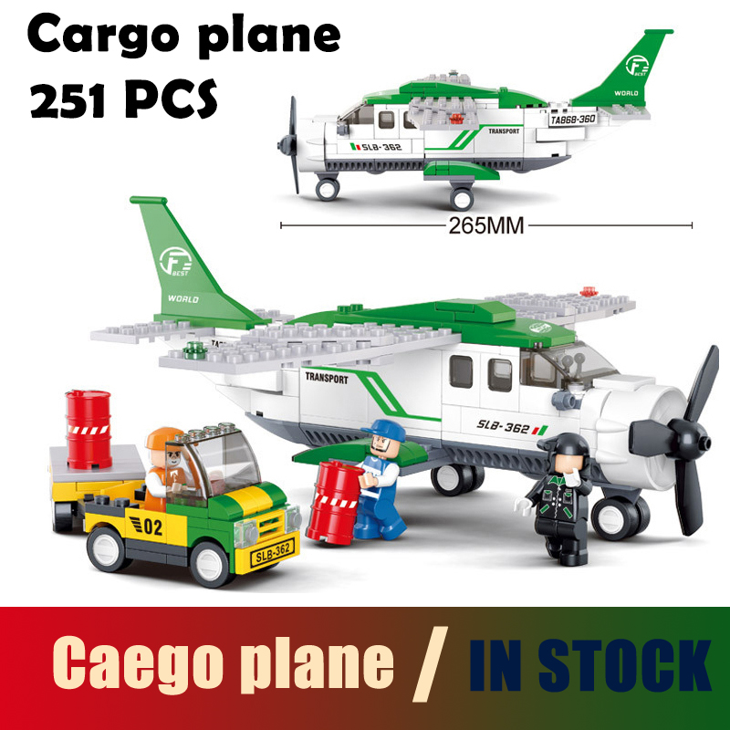 Compatible with lego city Model building kits 0362 plane 3D blocks Educational model & building toys hobbies for children