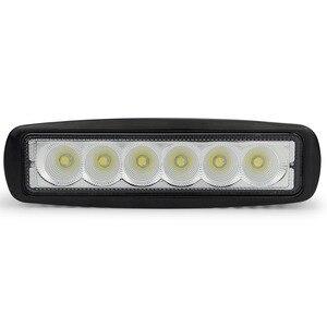 Image 2 - Safego 2 sztuk 18 W LED robocza listwa oświetleniowa offorad do ciężarówek SUV łódź 4X4 4WD ATV UTE samochodu lampa robocza LED jazdy lampy przeciwmgielne Spot wiązki powodzi