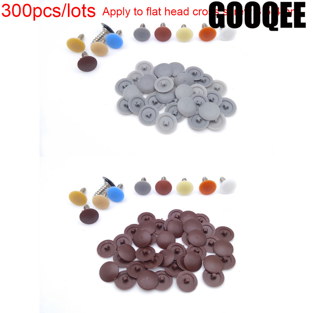 300pcs/lots Practical Self-tapping Screws Decorative Cover Plastic Nuts Bolts Covers Exterior Protective Caps Furniture Hardware300pcs/lots Practical Self-tapping Screws Decorative Cover Plastic Nuts Bolts Covers Exterior Protective Caps Furniture Hardware