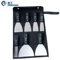 7pcs Putty Knife 1 5 Scraper With 600D Tool Bag For Floor Window Wall Wipe Scraper