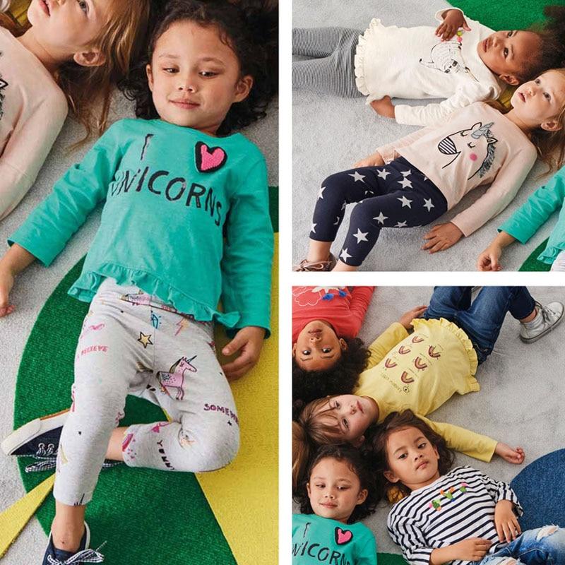 New 2018 Brand 100% Cotton Baby Girls t shirts Kids Clothing Clothes Children Long Sleeve t-shirt Girls Blouse Undershirts Girls стоимость