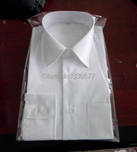 Free transport Customized European measurement Males's Top quality Cotton Lengthy sleeve White Formal Shirts QR-1469