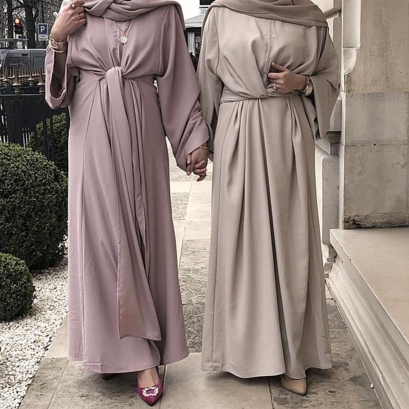 Bandage Abaya Muslim Dress Dubai Turkey Hijab Kaftan Abayas Women Jilbab Ramadan Robe Caftan Marocain Turkish Islamic Clothing